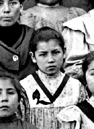 The only known photo of Bl. Laura Vicuña (1900)