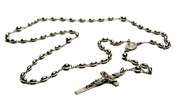 A sterling silver Catholic rosary - Wikimedia Commons