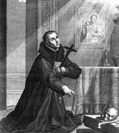 St. John Berchmans by Boetius Adams Bolswert c. 1621