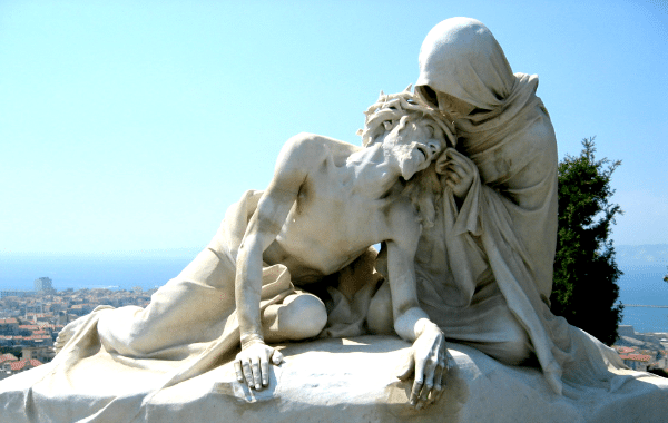 Passion of Christ at Notre dame de la Garde in Marseille, France