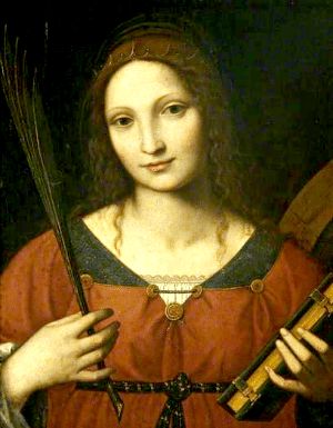 St. Catherine of Alexandria by Bernardino Luini (1485–1532)