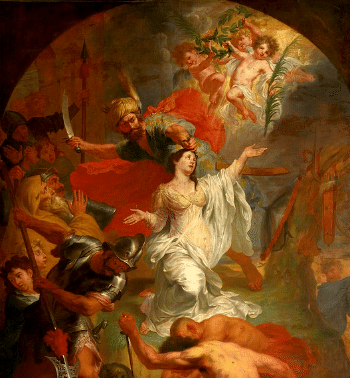 The beheading of Saint Dymphna by Godfried Maes (1649–1700)