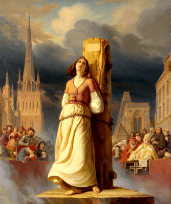 Joan of Arc's Death at the Stake - by Hermann Anton Stilke (1843)