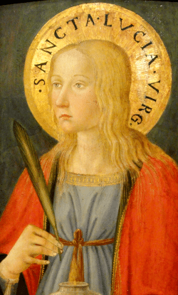 St. Lucy by Cosimo Rosselli, Florence, c. 1470