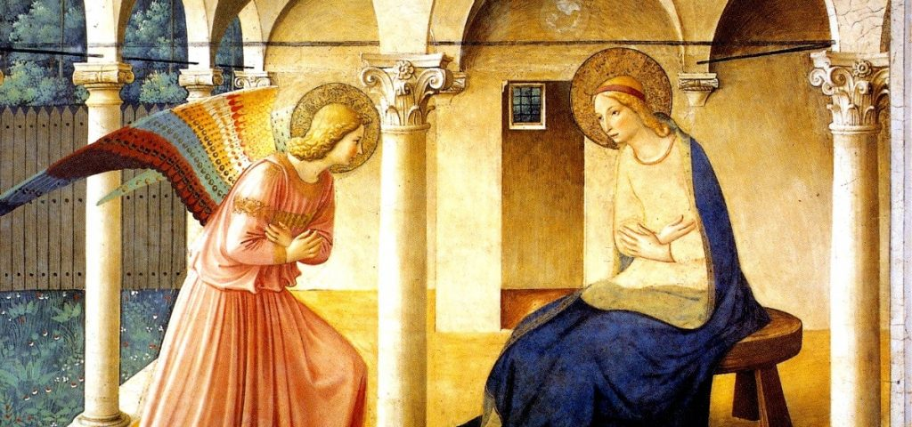 The Anunciation by Fra Angelico (ca. 1450)