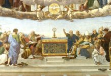 Disputation of the Sacrament by Raphael (1509-1510)