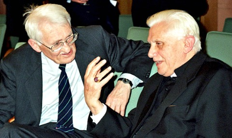 """Ratzinger and Habermas discussing the """"dialectics of secularization"""""""