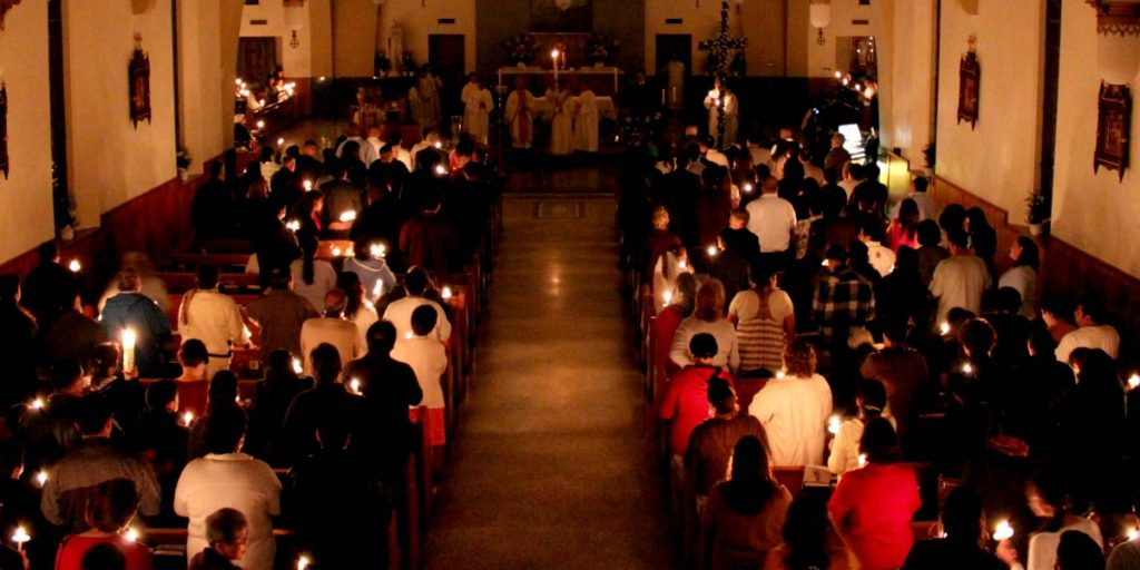 Easter Vigil Mass by Prayitno