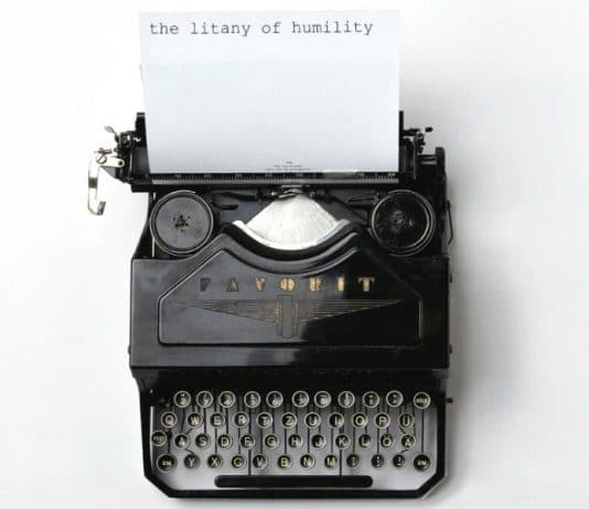 Typewriter Litany of Humility