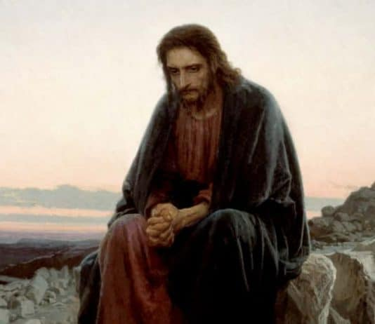Christ in the Wilderness by Ivan Nikolaevich Kramskoi (1872)