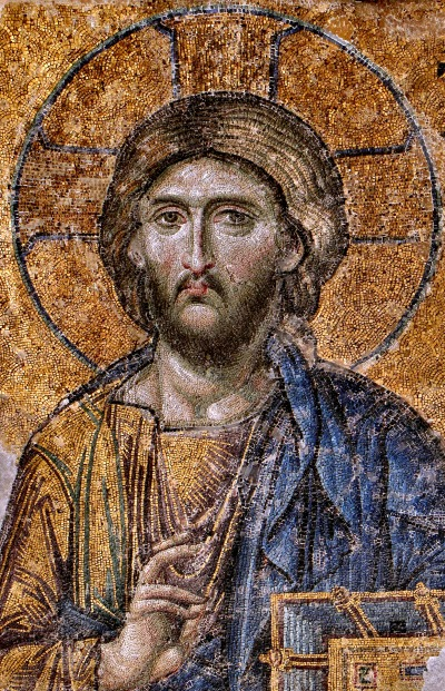 Christ Pantocrator at the Hagia Sophia - Photo by Dianelos Georgoudis