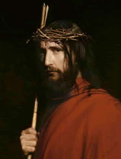 Christ with Thorns by Carl Heinrich Bloch