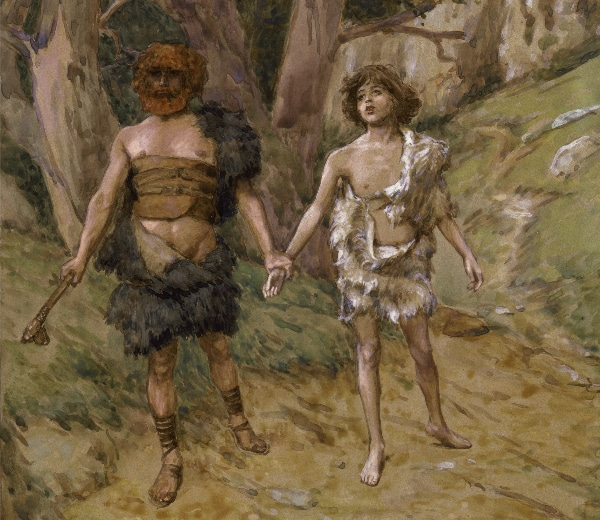 Cain Leadeth Abel to Death by James Tissot (c. 1896 - c. 1902)
