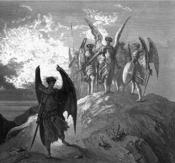 Paradise Lost - Satan Yields - Gustave Doré (1866)