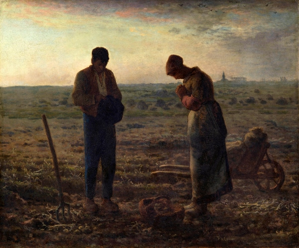 The Angelus by Jean-François Millet (1857-1859)