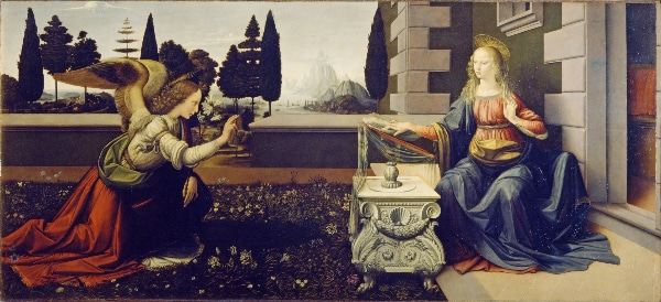 The Annunciation - Leonardo da Vinci (c. 1472)