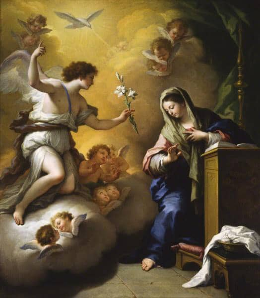 The Annunciation by Paolo de Matteis (1712)
