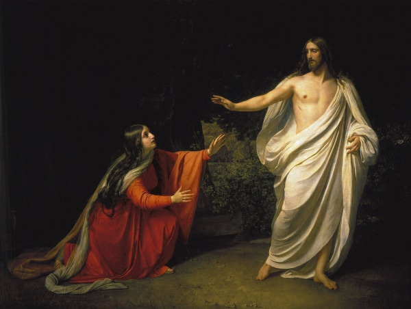 Appearance of Jesus Christ to Maria Magdalena by Alexander Andreyevich Ivanov (1835)