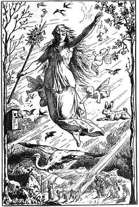 Ostara by Johannes Gehrts (1884)