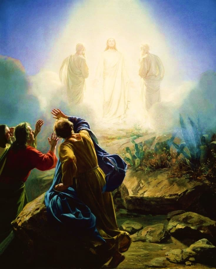 Transfiguration of Jesus by Carl Bloch (1800s)