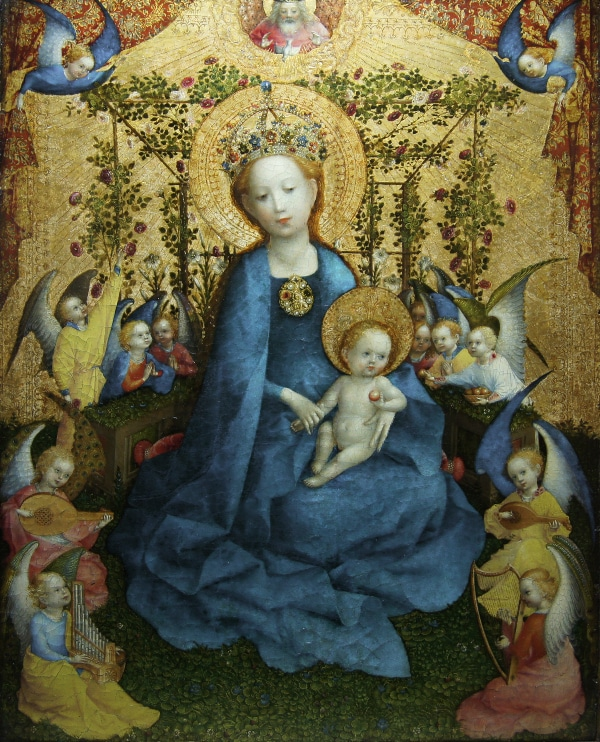 Madonna of the Rose Bower by Stefan Lochner (c. 1448)