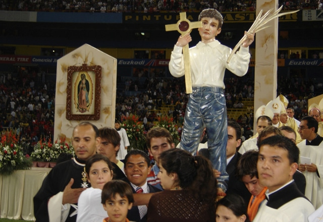 Statue of St. José Sánchez del Río at his Beatification Ceremony (2004)