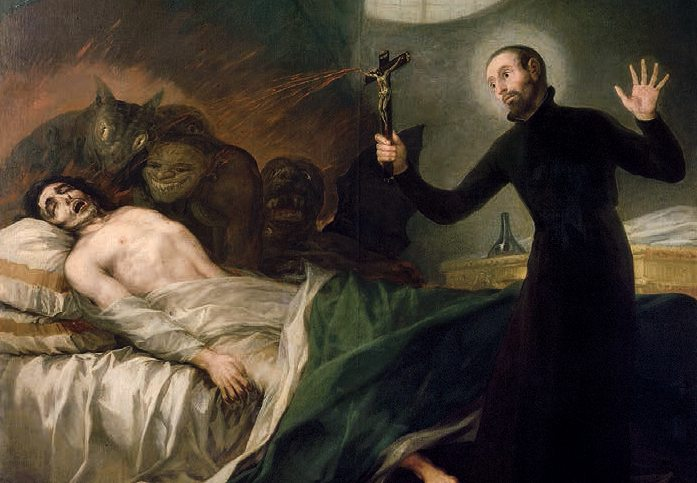 St. Francis Borgia Helping a Dying Impenitent by Francisco Goya (c. 1788)