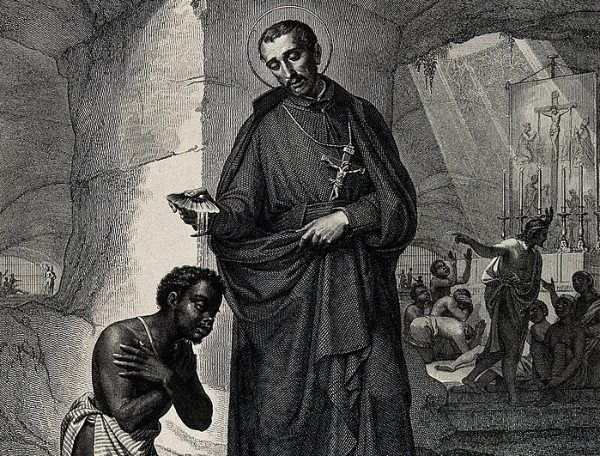 St. Peter Claver by P. Gagliardi after J. Vitta from Wellcome Library