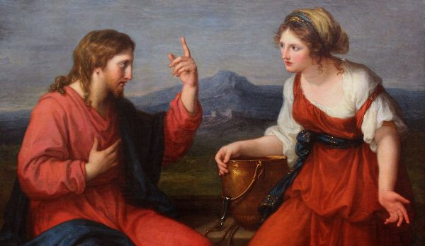 Christ and the Samaritan Woman at the Well by Angelica Kauffman (1796)