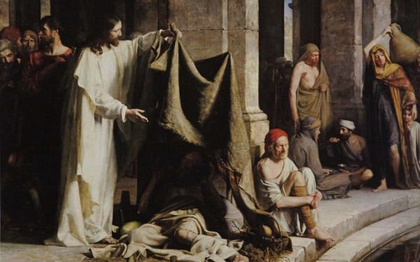 Christ Healing the Sick at the Pool of Bethesda by Carl Heinrich Bloch (1883)