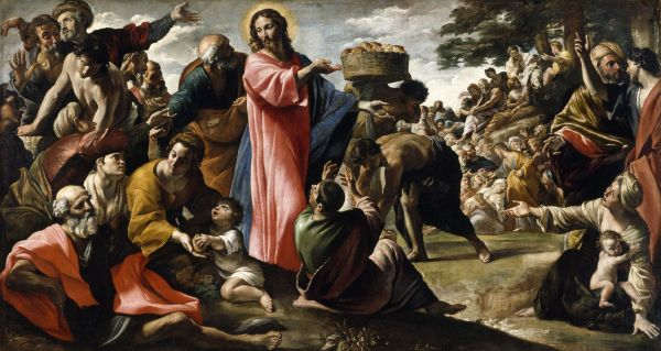 Miracle of the Loaves and Fishes by Giovanni Lanfranco (1620-1623)