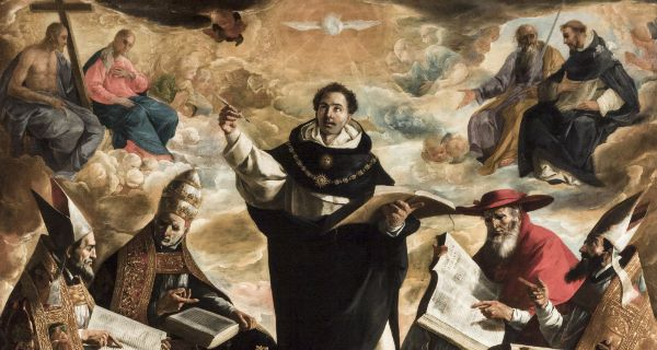 The Apotheosis of St. Thomas Aquinas by Francisco de Zurbarán (1631)
