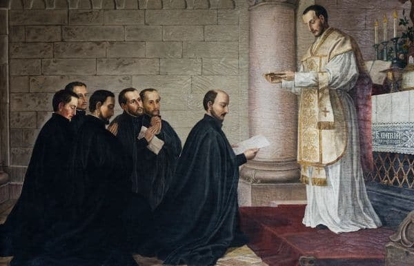 Ignatius and the First Companions Making Their First Vows at Montmartre
