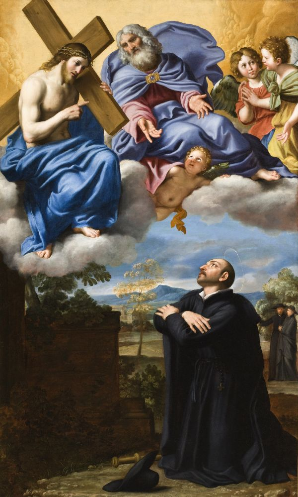 Saint Ignatius of Loyola's Vision of Christ and God the Father at La Storta by Domenichino (c. 1622)