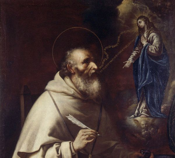 Apparition of the Virgin to St. Albert the Great by Vicente Salvador Gómez (c. 1660)