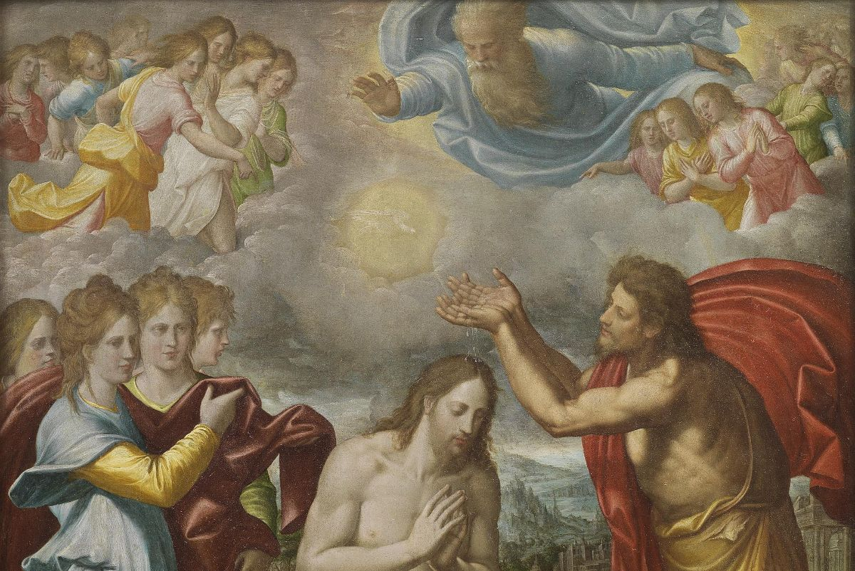 Baptism of Christ by Juan Fernández Navarrete (c. 1567)